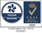 ISOQAR and UKAS logo